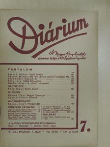 Bakos József - Diárium 1943. július [antikvár]