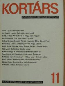 Barta János - Kortárs 1984. november [antikvár]