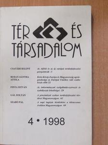 Bődy Pál - Tér és Társadalom 1998/4. [antikvár]