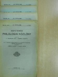 Alföldi András - Egyetemes Philologiai Közlöny 1930. január-december [antikvár]