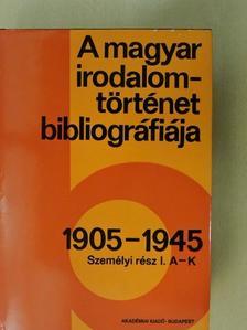Botka Ferenc - A magyar irodalomtörténet bibliográfiája 6. [antikvár]
