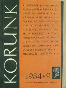 Bakk Miklós - Korunk 1984. szeptember [antikvár]