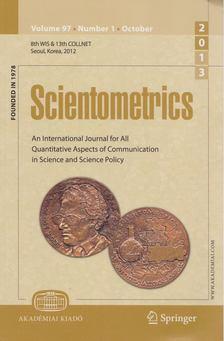T. Braun - Scientometrics October 2013 (number 1) [antikvár]