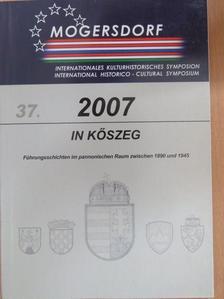 Gemot Peter Obersteiner - Internationales Kulturhistorisches Symposion Mogersdorf 2007 [antikvár]