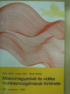 Bacsó András - Mosonmagyaróvár és vidéke munkásmozgalmának története [antikvár]