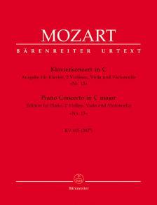 MOZART, W,A, - KLAVIERKONZERT IN C. AUSGABE FÜR KLALVIER, 2 VIOLINEN, VIOLA UND VLC, NR.14, KV 415 (387b) STIMMEN