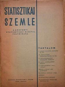 Dr. Ujhelyi Tamás - Statisztikai Szemle 1959. január [antikvár]