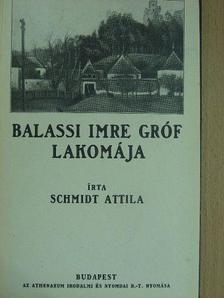 Schmidt Attila - Balassi Imre gróf lakomája [antikvár]