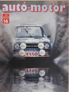 Almássy Tibor - Autó-Motor 1979. augusztus [antikvár]