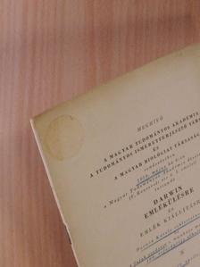 Anghi Csaba - Meghívó a Magyar Tudományos Akadémia, a Tudományos Ismeretterjesztő Társulat és a Magyar Biológiai Társaság rendezésében tartandó Darwin emlékülésre és emlék kiállításra [antikvár]