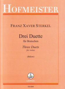 STERKEL, FRANZ XAVER - DREI DUETTE FÜR BRATSCHEN (BÜLOW)
