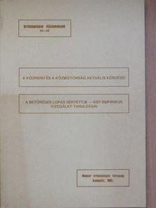 Korinek László - A közrend és a közbiztonság aktuális kérdései/A betöréses lopás sértettje - egy empirikus vizsgálat tanulságai [antikvár]