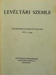 Bánki-Horváth Mihályné - Levéltári Szemle 1979. szeptember-december [antikvár]