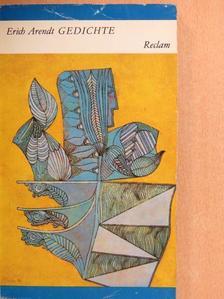 Erich Arendt - Gedichte [antikvár]