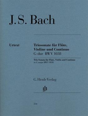 J. S. Bach - TRIOSONATE FÜR FLÖTE, VIOLINE UND CONTINUO G-DUR BWV 1038