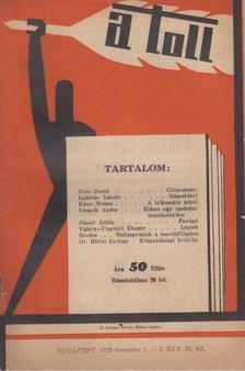 ZSOLT BÉLA - A toll I. évf. 33. sz. (1929. december 1.) [antikvár]