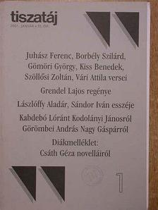 Bogdán László - Tiszatáj 2001. január [antikvár]