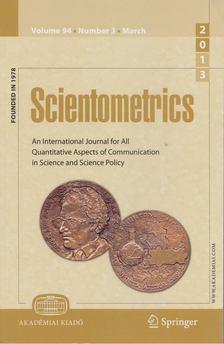 T. Braun - Scientometrics March 2013 (number 3) [antikvár]