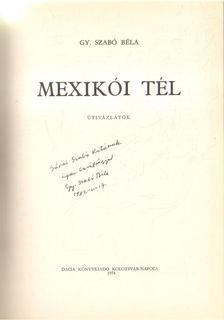 Gy. Szabó Béla - Mexikói tél [antikvár]