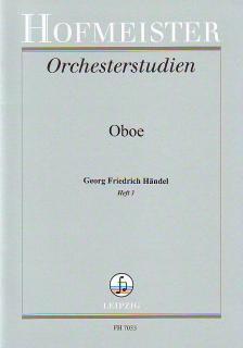 HAENDEL - ORCHESTERSTUDIEN FÜR OBOE: HAENDEL HEFT 3 (WALTER HEINZE)