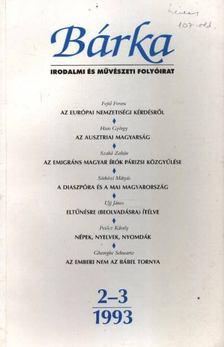 Kántor Zsolt - Bárka 1993/2-3. [antikvár]