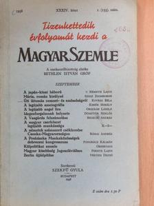 Bedecsi András - Magyar Szemle 1938. szeptember [antikvár]