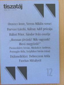 Bálint Péter - Tiszatáj 1998. december [antikvár]