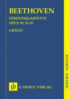 BEETHOVEN - STREICHQUARTETTE OP.59,74,95 STUDIENPARTITUR URTEXT (MIES/HERTTRICH)