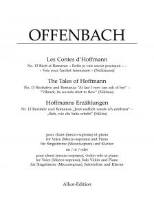 """Offenbach - THE TALES OF HOFFMANN. NO.13 RECITATIVE AND ROMANZA """"AT LAST I NOW CAN ASK OF HER"""""""