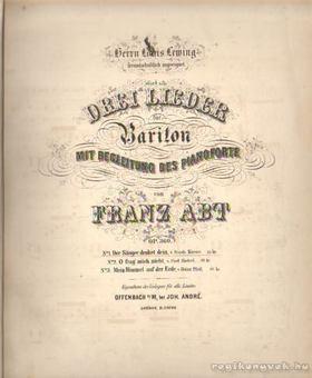 Drei Lieder für Bariton mit begleitung des pianoforte [antikvár]