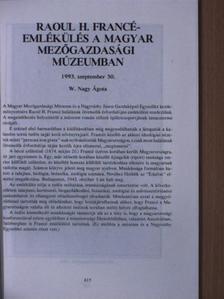 Bálint György - Raoul H. Francé-emlékülés a Magyar Mezőgazdasági Múzeumban [antikvár]