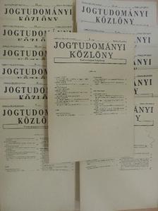 Ficzere Lajos - Jogtudományi Közlöny 1988. január-december [antikvár]