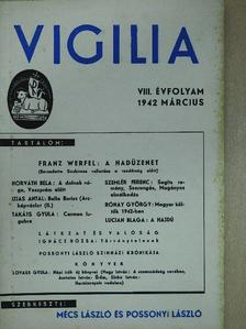 Asztalos István - Vigilia 1942. március [antikvár]