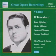 Verdi - IL TROVATORE 2CD BJÖRLING, MILANOV, WARREN, BARBIERI, CELLINI
