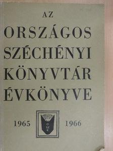Babiczky Béla - Az Országos Széchényi Könyvtár Évkönyve 1965-1966 [antikvár]