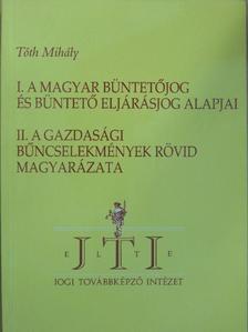 Tóth Mihály - Magyar büntetőjog [antikvár]