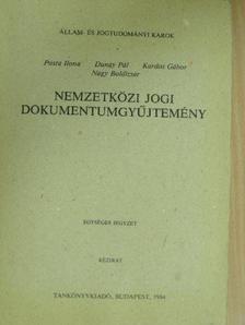 Dunay Pál - Nemzetközi jogi dokumentumgyűjtemény [antikvár]