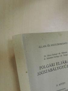 Dr. Gátos György - Polgári eljárásjogi jogszabálygyűjtemény II. [antikvár]