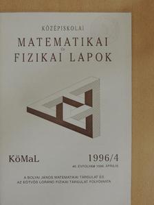 Bakos Tibor - Középiskolai matematikai és fizikai lapok 1996. április [antikvár]