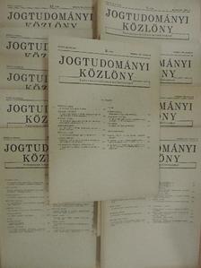 Aradi Béla - Jogtudományi Közlöny 1981. (nem teljes évfolyam) [antikvár]