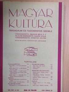 Bangha Béla S. J. - Magyar Kultúra 1934. június 20. [antikvár]