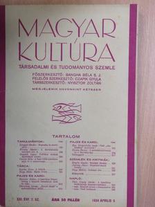 Csiszár Béla - Magyar Kultúra 1934. április 5. [antikvár]
