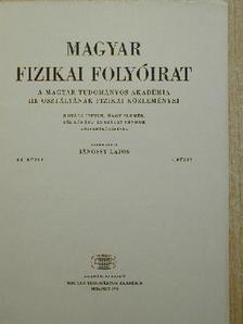 Fodor Ilona - Magyar Fizikai Folyóirat XX. kötet 5. füzet [antikvár]