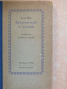 Goethe - Epigrammák és xéniák [antikvár]