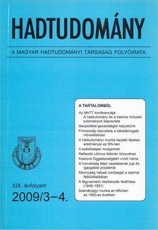 Nagy László - Hadtudomány XIX. évfolyam 2009/3-4. [antikvár]