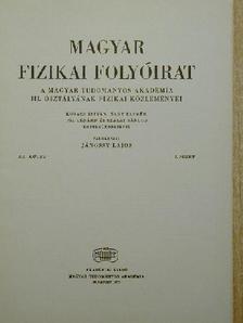 Györgyiné Horváth Tünde - Magyar Fizikai Folyóirat XX. kötet 1. füzet [antikvár]