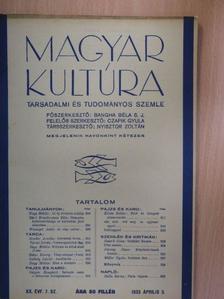 Balla Borisz - Magyar Kultúra 1933. április 5. [antikvár]