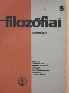 Garai László - Filozófiai közlemények 1965/3. [antikvár]