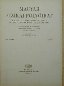 Beleznay Ferenc - Magyar Fizikai Folyóirat XIX. kötet 5. füzet [antikvár]