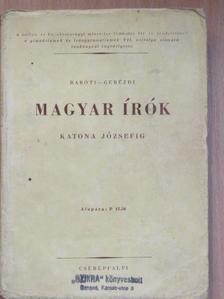 Baróti Dezső - Magyar írók Katona Józsefig [antikvár]